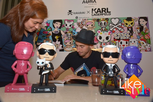 Simone Legno Press Conference for tokidokiXKarlLagerfeld Collection