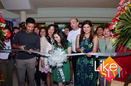 Sam Milby and Dimples Romana open Diana Stalder Megamall Branch