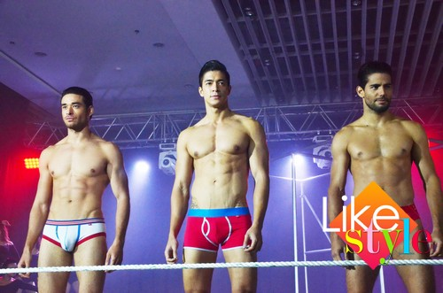 The hot males of Bench Body with Ellen Adarna