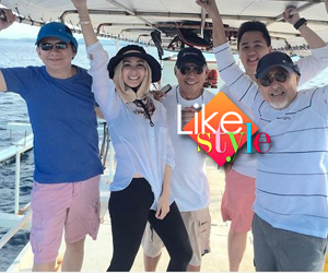 Heart, Chiz go on fishing trip with Heart's father